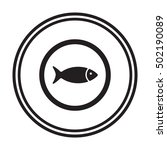fish icon vector. flat design. | Shutterstock .eps vector #502190089