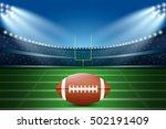 american football on field of... | Shutterstock .eps vector #502191409