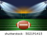 american football on field of... | Shutterstock .eps vector #502191415