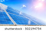image of a big solar plant | Shutterstock . vector #502194754