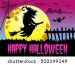 happy halloween background... | Shutterstock .eps vector #502199149