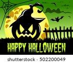 happy halloween background... | Shutterstock .eps vector #502200049