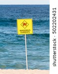 Dangerous Current Warning Sign...