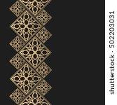 golden frame in oriental style. ... | Shutterstock .eps vector #502203031