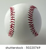 a baseball on a gray background | Shutterstock . vector #50220769