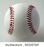 a baseball on a gray background   Shutterstock . vector #50220769