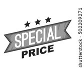 label special price icon. gray... | Shutterstock .eps vector #502209271