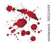 drops of blood background with... | Shutterstock .eps vector #502211419