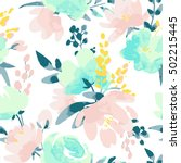 Vector Watercolour Floral...