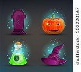 set of icons for halloween | Shutterstock .eps vector #502220167