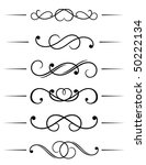swirl elements and monograms...   Shutterstock . vector #50222134