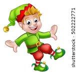 a cute christmas elf pixie... | Shutterstock .eps vector #502222771