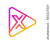 letter x rounded triangle line... | Shutterstock .eps vector #502227337