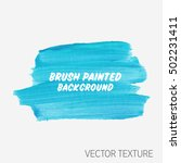 logo brush painted watercolor... | Shutterstock .eps vector #502231411