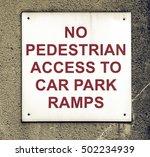 vintage looking no pedestrian... | Shutterstock . vector #502234939