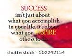 inspirational motivational life ... | Shutterstock . vector #502242154