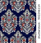 traditional indian paisley... | Shutterstock .eps vector #502246114