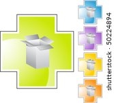 shipping box | Shutterstock .eps vector #50224894