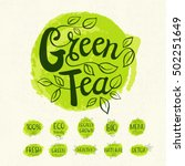 Green Tea Logo  Lettering...