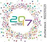 2017 happy new year modern text ... | Shutterstock .eps vector #502253125