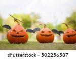 Ghost Pumpkins On Halloween...
