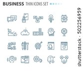 thin icons | Shutterstock .eps vector #502256959