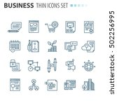 thin icons | Shutterstock .eps vector #502256995