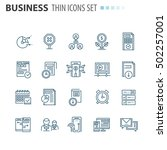 thin icons | Shutterstock .eps vector #502257001