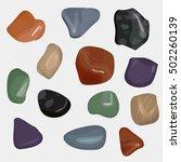 vector semiprecious stones... | Shutterstock .eps vector #502260139