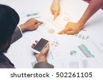 business people discussing the... | Shutterstock . vector #502261105
