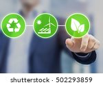 concept about sustainable... | Shutterstock . vector #502293859