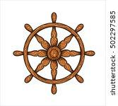 vector illustration of wooden... | Shutterstock .eps vector #502297585