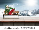Christmas Elf On Train Station...