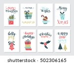 vector big set of new year and... | Shutterstock .eps vector #502306165