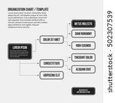 organization chart template... | Shutterstock .eps vector #502307539