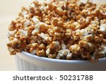 Close Up Of Caramel Popcorn In...