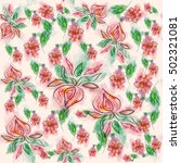 seamless pattern with gentle... | Shutterstock .eps vector #502321081