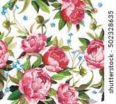 elegance seamless peony pattern ... | Shutterstock .eps vector #502328635