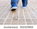 cropped rear view of a walking... | Shutterstock . vector #502329805