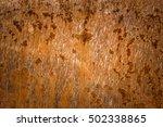 rusty sheet metal texture | Shutterstock . vector #502338865