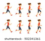 running woman animation sprite... | Shutterstock . vector #502341361