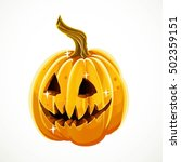 halloween scary pumpkin... | Shutterstock .eps vector #502359151