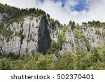 Small photo of Granite Cliffs of the Adirondack Mountains
