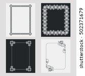 set of silhouette vertical... | Shutterstock . vector #502371679