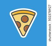 pizza slice icon fast food... | Shutterstock .eps vector #502378927