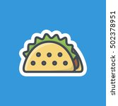 taco icon fast food stickers | Shutterstock .eps vector #502378951