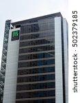 Small photo of TAGUIG, PH - OCT. 1: Marajo Tower facade on October 1, 2016 in Bonifacio Global City, Taguig, Philippines. Marajo Tower is a 23-storey, PEZA accredited office building.