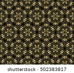 seamless floral pattern. gold... | Shutterstock .eps vector #502383817