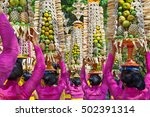 procession of beautiful... | Shutterstock . vector #502391314