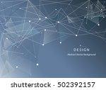3d blue abstract mesh... | Shutterstock .eps vector #502392157